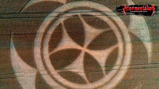 Símbolo estranho em plantação na França. Aliens, cavaleiros templários?